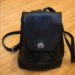 Coach leather backpack.